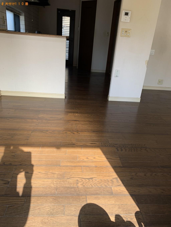 退去後の一軒家内(売り物件)1階リビング、キッチン、玄関のワックスがけ希望