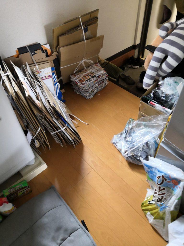 引っ越しに伴う不用品回収!軽トラ積み放題パックにて効率よく不用品処分できた、とご満足いただけました!