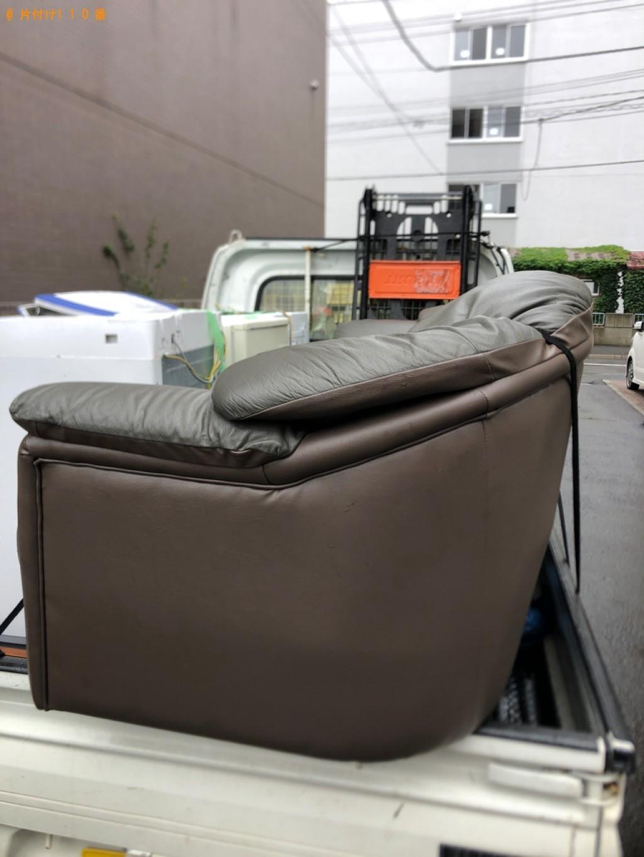 【秋田市】三人掛けソファーの回収・処分ご依頼 お客様の声
