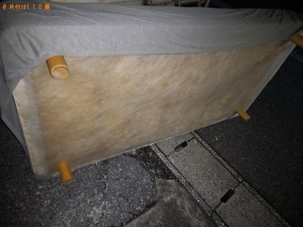 【秋田市】マットレス付きシングルベッドの回収・処分ご依頼