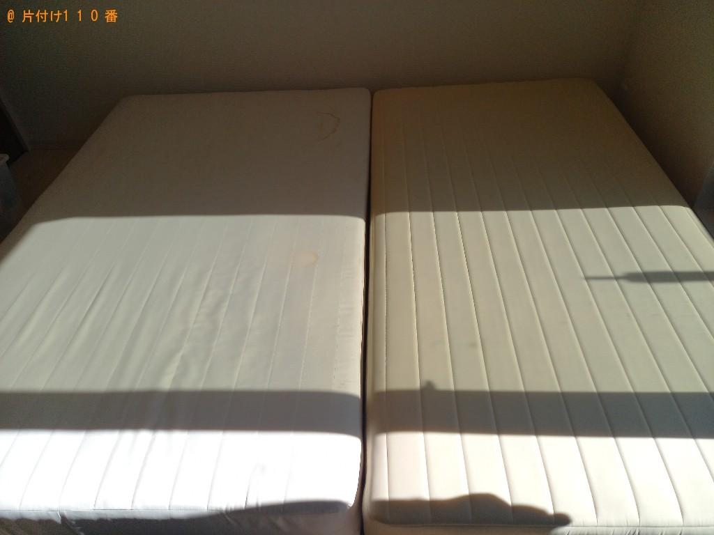 【秋田市】マットレス付きシングルベッド等の回収・処分ご依頼