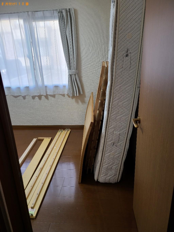 【秋田市】マットレス付きダブルベッドの回収・処分ご依頼