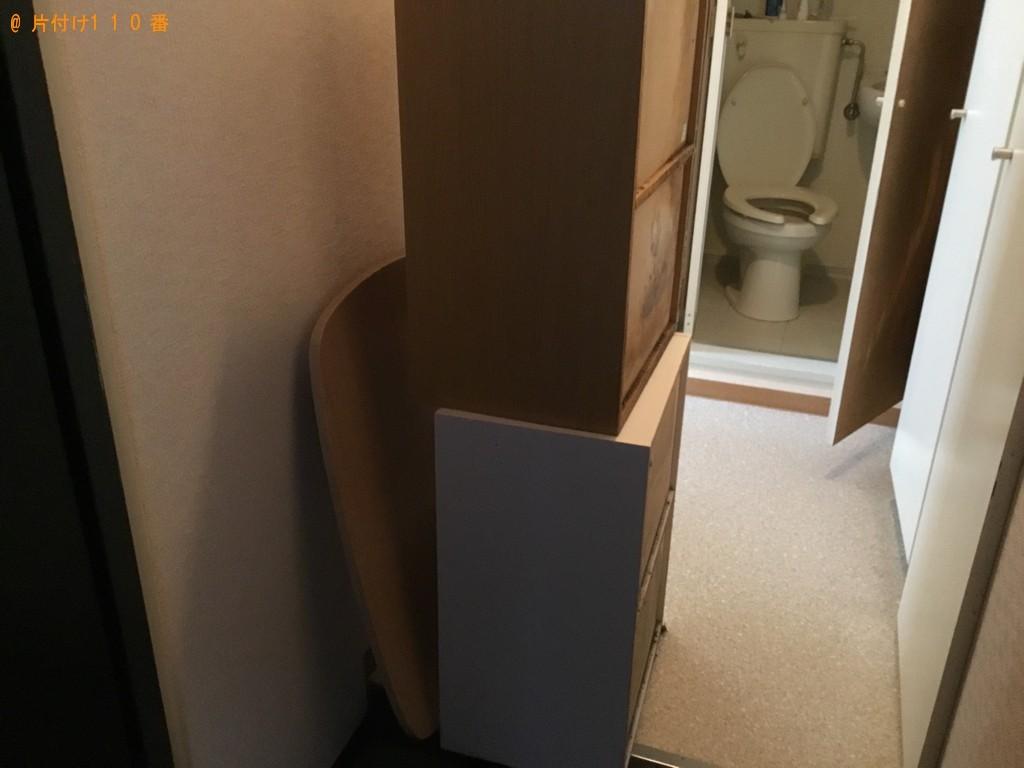 【秋田市】ドラム式乾燥機付き洗濯機、カラーボックス等の回収・処分