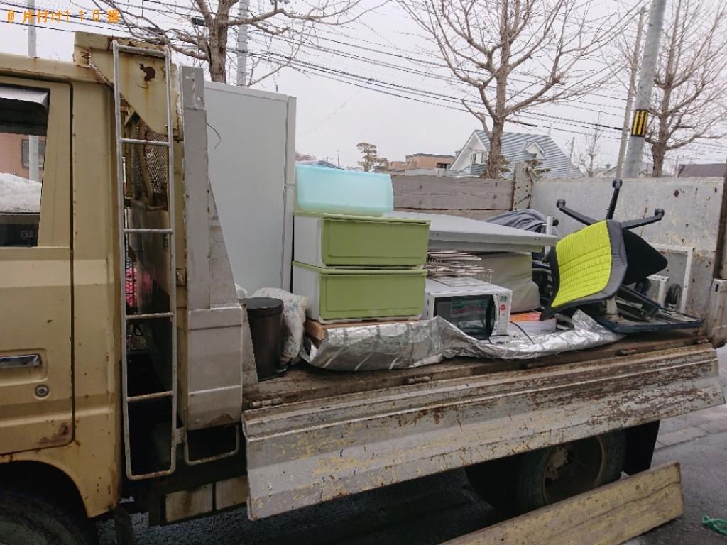 【秋田市】冷蔵庫、洗濯機、マットレス付きシングルベッド等の回収