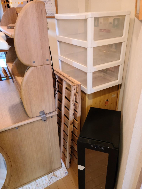 【秋田市】学習机、シングルベッド、収納ケース等の回収・処分ご依頼