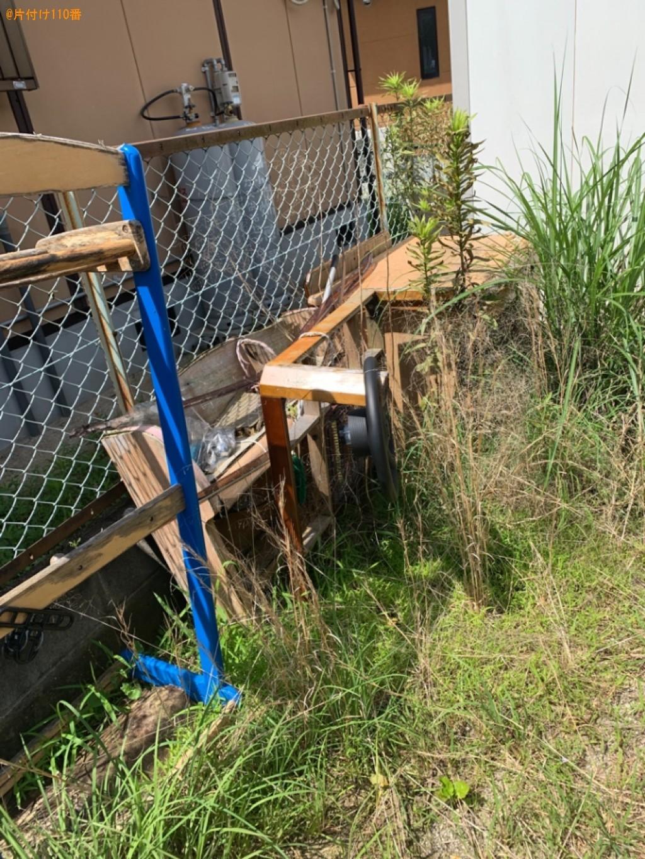 ソファーベッド、衣装ケース、ローテーブル等の回収・処分と草刈り
